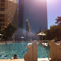 Photo taken at The Pool At Bellagio by Stephanie C. on 10/29/2012