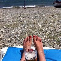 Photo taken at vizyon beach by Melek 😇 on 7/18/2015