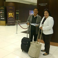 Photo taken at AUH T3 First Class Check-In by Feira S. on 1/5/2013