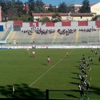 Photo taken at Stadio Tommaso Fattori by Gamze B. on 10/20/2013