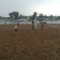 Photo taken at Elagin Volleyball Beach Resort by Andrey K. on 7/20/2013