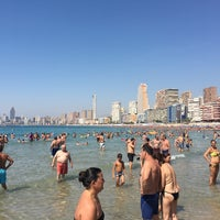 Photo taken at Benidorm West Beach by Nick V. on 8/19/2016