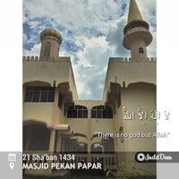 Photo taken at Masjid Pekan Papar by Fatimah H. on 6/30/2013