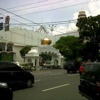 Photo taken at Masjid Agung Medan by Wisnu F. on 9/21/2012