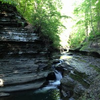 Photo taken at Buttermilk Falls State Park by Tina Y. on 5/26/2013