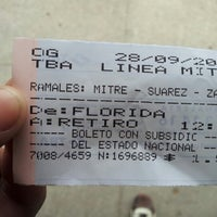 Photo taken at Estación Florida [Línea Mitre] by Emiliano O. on 9/28/2012