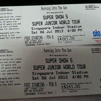 Photo taken at Singapore Indoor Stadium by sy s. on 7/6/2013