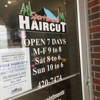 Photo taken at Sportsman's Haircut by Jay W. on 11/4/2017