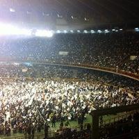 Photo taken at Estádio Jornalista Felipe Drummond (Mineirinho) by Anielle L. on 5/26/2013