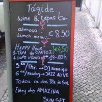 Photo taken at Tágide Wine & Tapas Bar by DJ Rodrigo T. on 6/13/2013