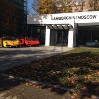 Снимок сделан в Lamborghini Moscow пользователем Nastya M. 10/17/2013