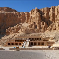 Photo taken at Mortuary Temple of Hatshepsut by lesley h. on 4/29/2013