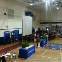 Photo taken at E. L. Wright Middle School by Heather K. on 6/1/2016