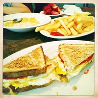 Photo taken at Omega Diner by Leigh on 4/28/2013