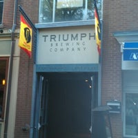 Photo taken at Triumph Brewing Company by Auzheal C. on 9/30/2012