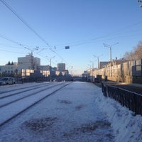 Photo taken at Трамвайная остановка «ДК Химиков» by Albert U. on 12/12/2016