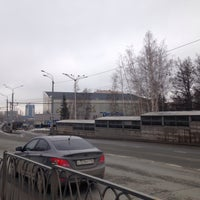Photo taken at Трамвайная остановка «ДК Химиков» by Albert U. on 4/5/2016
