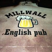 Photo taken at Millwall English Pub by Mustafa K. on 2/21/2014