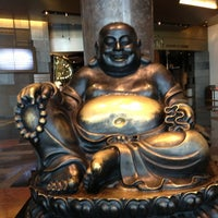 Photo taken at Big Buddah Statue at ARIA by Debbie B. on 7/24/2013