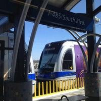 Photo taken at LYNX I-485/South Blvd Station by Ariel A. on 3/3/2013