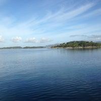 Photo taken at Hjellestad Marina by Mikhail B. on 6/20/2013