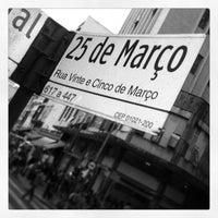 Photo taken at Rua 25 de Março by José Ednilson J. on 4/18/2013