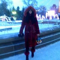 Photo taken at Сквер им. Дзержинского by Татьяна С. on 1/7/2015