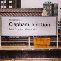 Photo taken at Clapham Junction Railway Station (CLJ) by Max H. on 5/22/2013