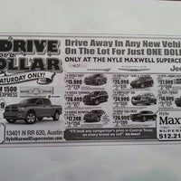 Photo taken at Nyle Maxwell Chrysler Dodge Jeep Ram Supercenter by Melissa G. on 5/10/2014