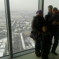 Photo taken at Punkt Widokowy Sky Tower by Jolanta E. on 1/25/2014
