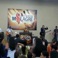 Photo taken at Igreja Nova Dimensão by Vinicius O. on 5/5/2013