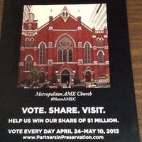 Photo taken at Metropolitan AME Church by Clayton A. on 5/2/2013