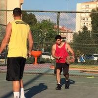 Photo taken at Bostanlı Basketbol Sahası by Can S. on 4/16/2017