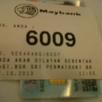 Photo taken at Maybank by Shah A. on 10/17/2013