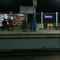 Photo taken at Stasiun Pondok Cina by Akbar R. on 6/1/2013