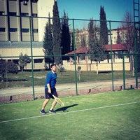 Photo taken at Tenis Kortu by Mustafa D. on 3/16/2014