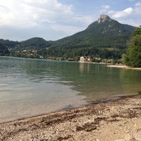 Photo taken at Badeplatz Am Fuschelsee by Max A. on 8/7/2013