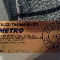 Photo taken at AŞTİ Metro Turizm Peronu by Nazlıcan S. on 11/22/2012