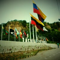 Photo taken at Puente Colgante Libertador (Monumento Nacional) by Andrea L. on 9/29/2013