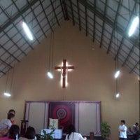 Photo taken at Gereja Toraja Bintaro by Surya p. on 9/21/2014