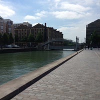 Photo taken at Canal de l'Ourcq by Orianne L. on 5/4/2013