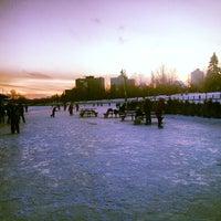 Photo taken at Rideau Canal Skateway by Annalie K. on 1/1/2014