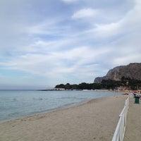 Photo taken at Spiaggia di Mondello by Isela P. on 6/10/2013