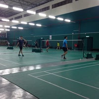 Photo taken at Penang Badminton Academy by Ommabaran G. on 2/9/2015