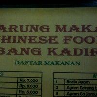 Photo taken at Chinese food bang Kadir by natalia r. on 3/10/2013