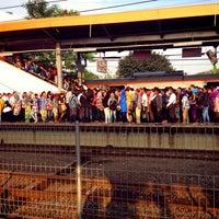 Photo taken at Stasiun Tanah Abang by Adyan R. on 8/1/2013