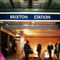 Photo taken at Brixton London Underground Station by Andrew G. on 4/29/2013