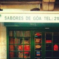 Photo taken at Sabores de Gôa by Rui O. on 11/28/2012