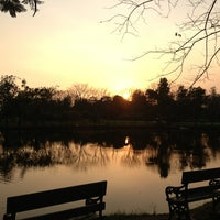 Photo taken at Vachirabenjatas Park (Rot Fai Park) by Moo ON on 1/31/2013