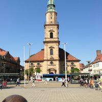 Photo taken at Hugenottenkirche by Paulo B. on 7/8/2013